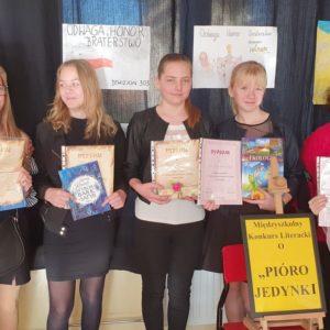 """2019-11-19: II Międzyszkolny Konkursu Literacki o """"Pióro Jedynki"""""""