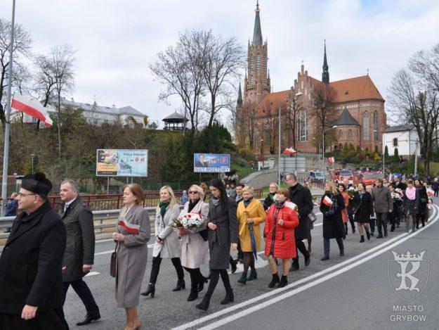 2019-11-11: Święto Narodowe Niepodległości w Grybowie