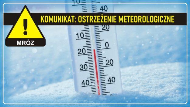 Komunikat pogodowy: Ostrzeżenie meteorologiczne - MRÓZ