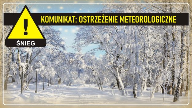 Komunikat pogodowy: Ostrzeżenie meteorologiczne - ŚNIEG