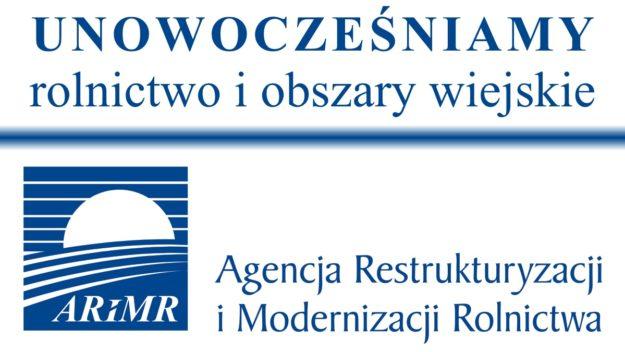 Logo ARiMR: Unowocześniamy rolnictwo i obszary wiejskie