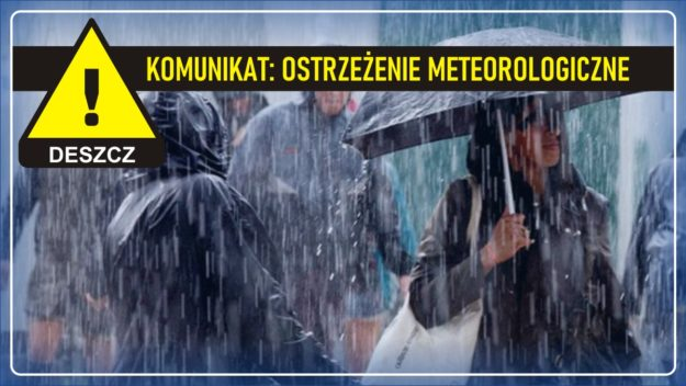 Komunikat pogodowy: Ostrzeżenie meteorologiczne - DESZCZ