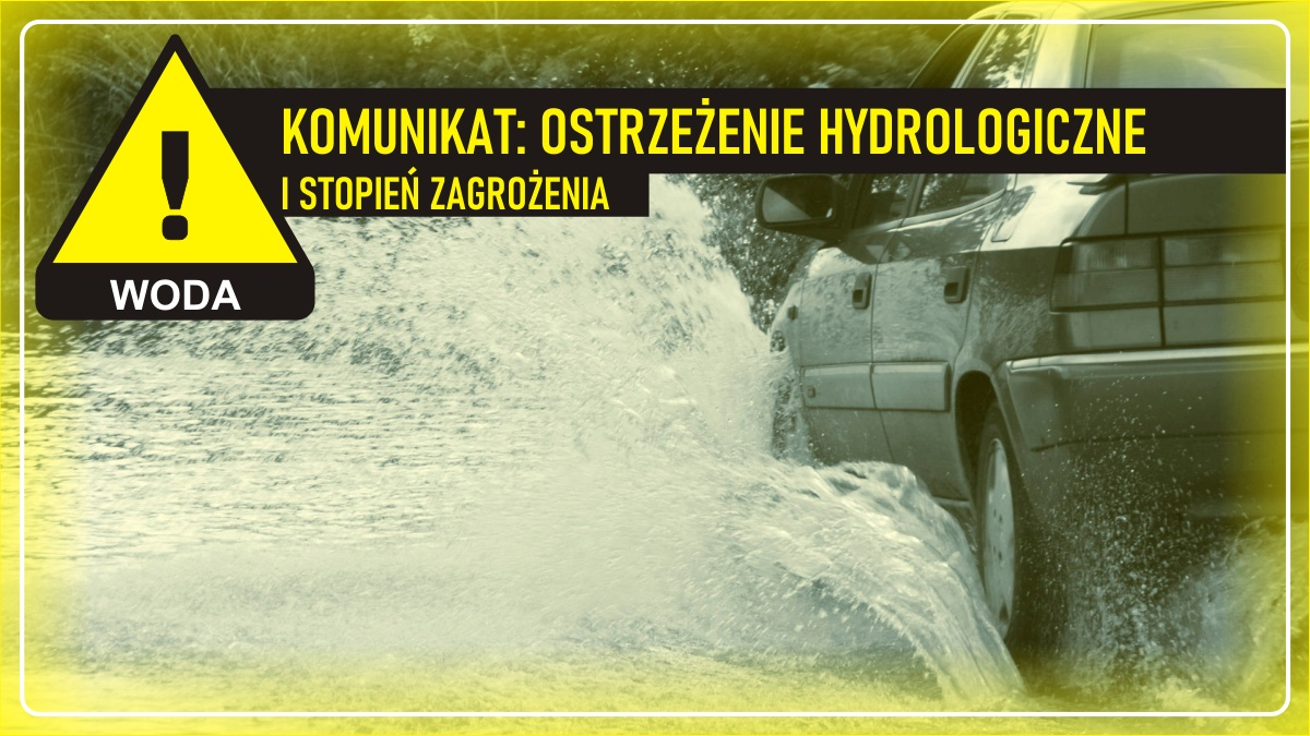 Komunikat pogodowy: Ostrzeżenie meteorologiczne - WODA (I stopień zagrożenia)