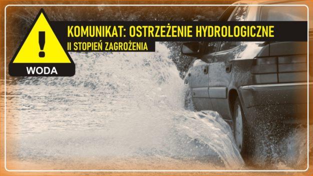 Komunikat pogodowy: Ostrzeżenie meteorologiczne - WODA (II stopień zagrożenia)