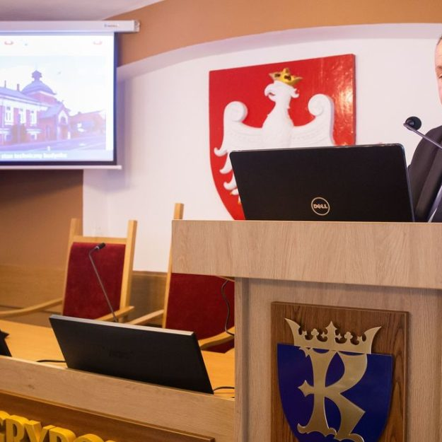 Prezentacja - stan prac budowlanych w kinie Biała