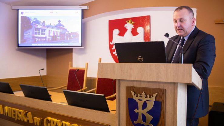 Prezentacja - stan prac budowlanych wkinie Biała