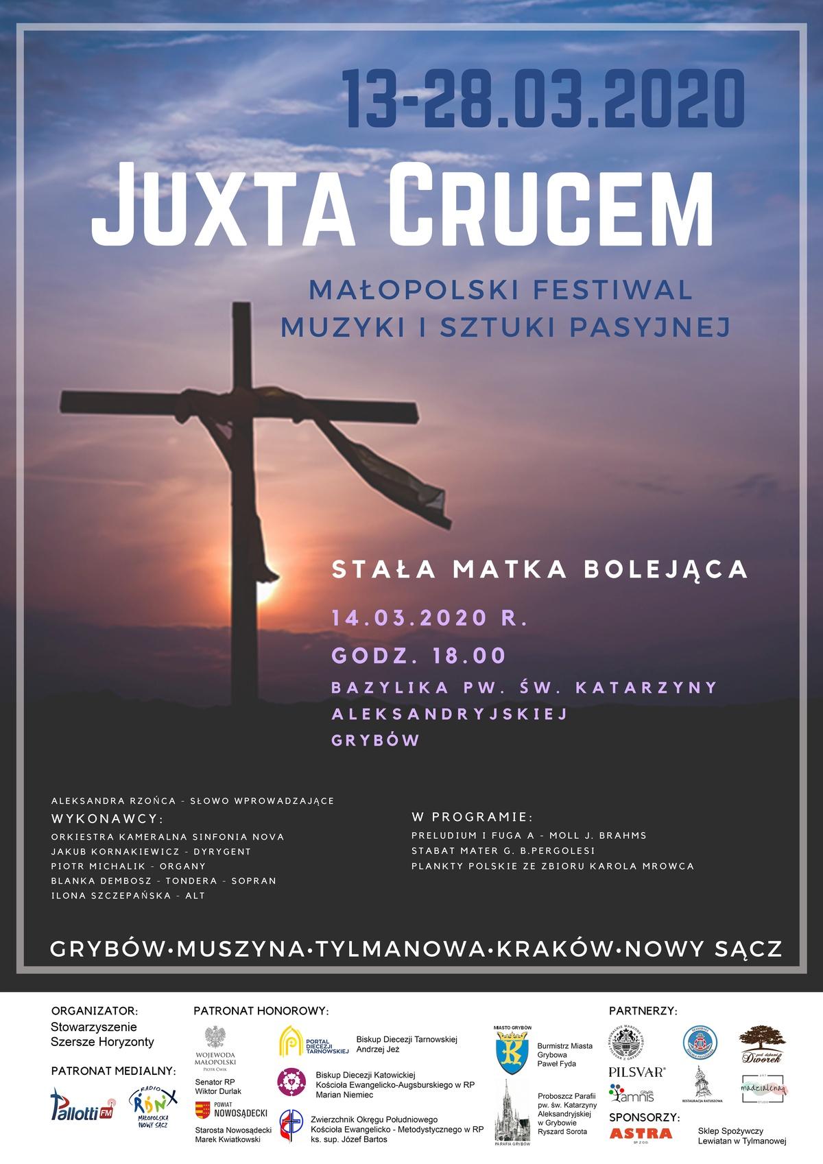 """Małopolski Festiwal Muzyki iSztuki Pasyjnej """"Juxta Crucem"""""""