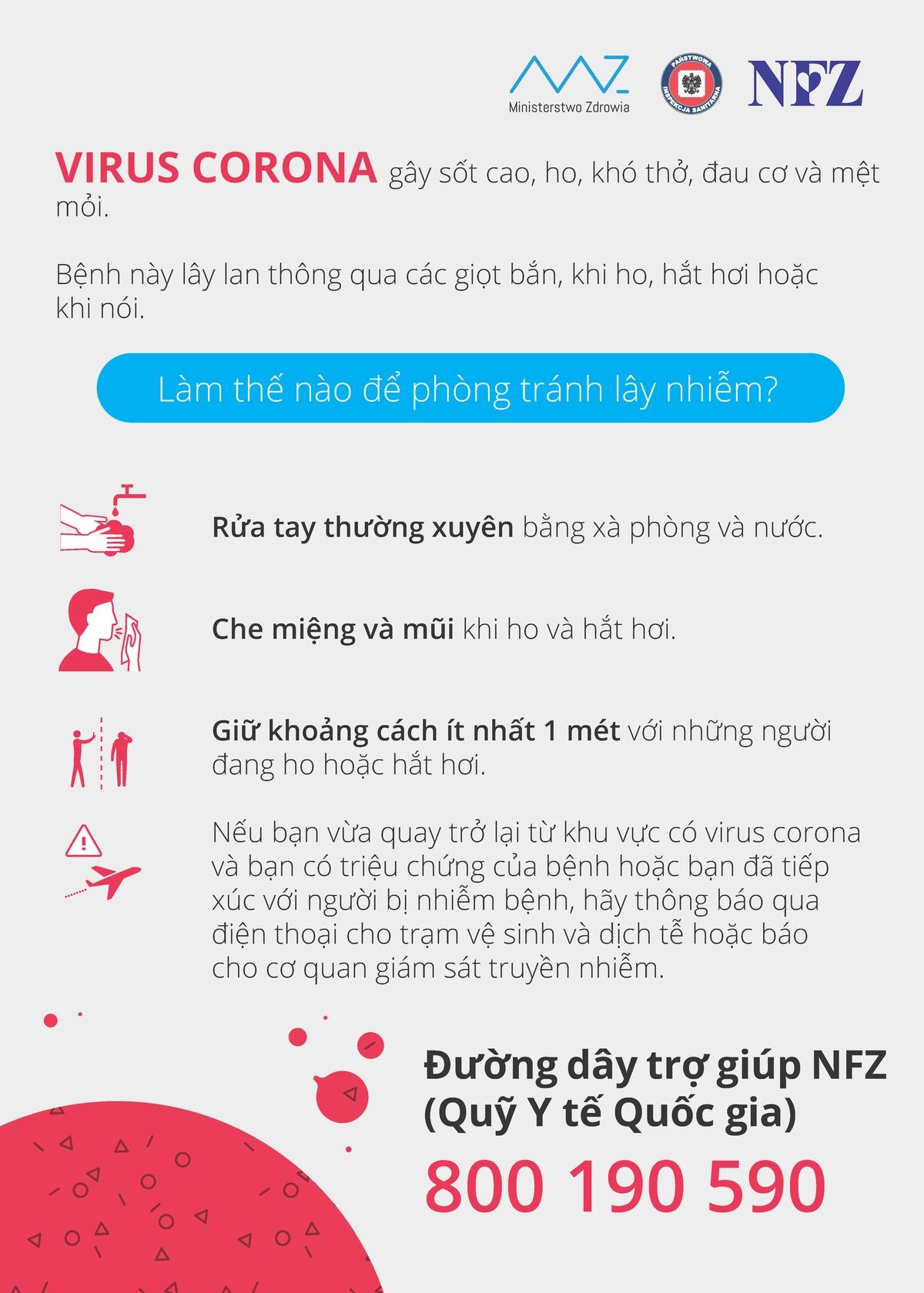 UWAGA! Koronawirus wciąż się rozprzestrzenia - język wietnamski