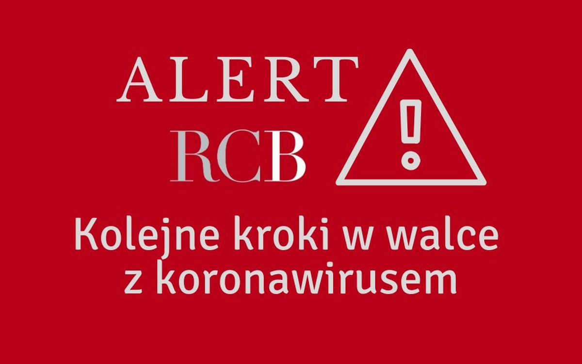 Alert RCB wdniu 31 marca 2020 roku