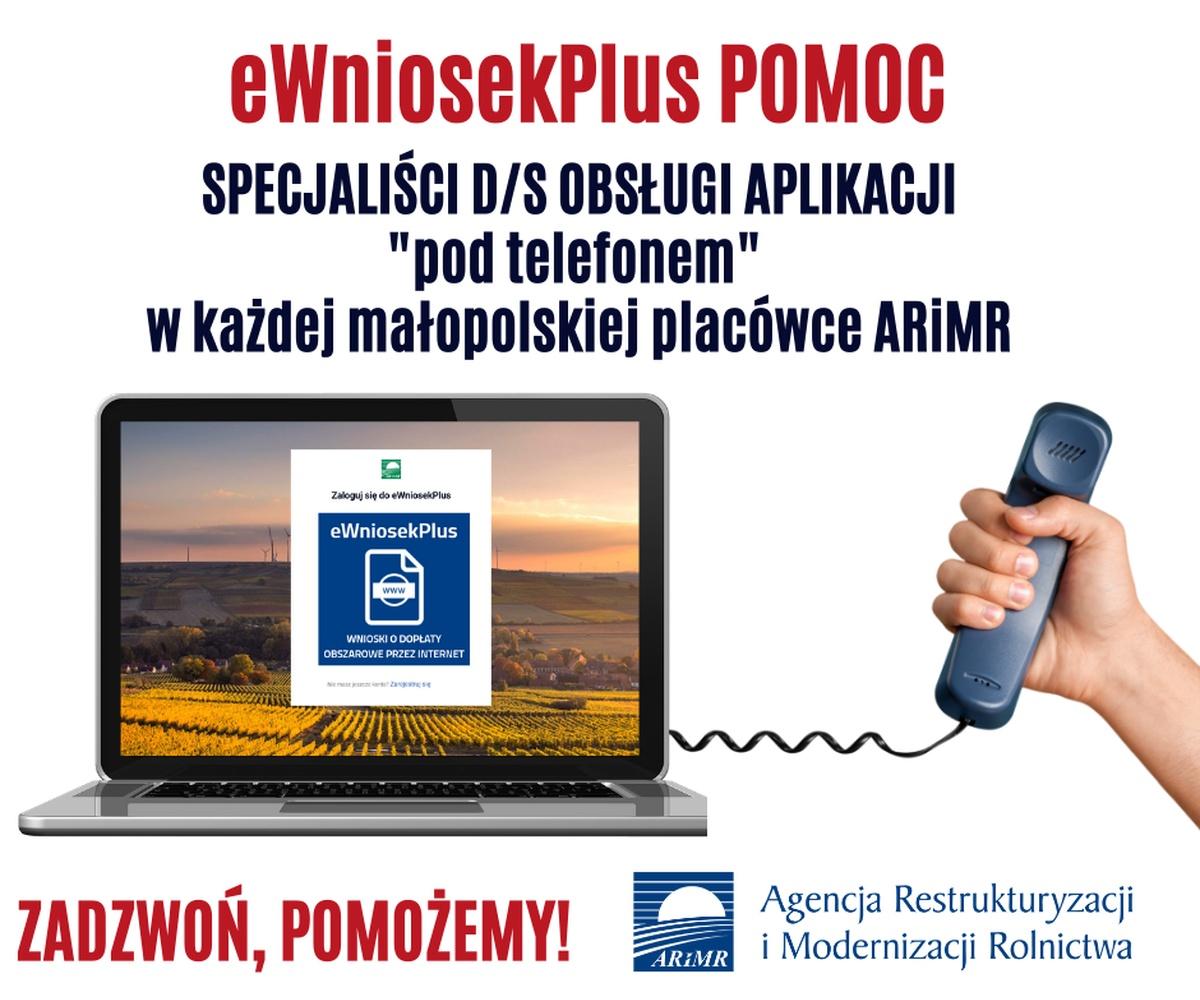 ARiMR: Infolinia eWniosekPlus POMOC dla małopolskich rolników