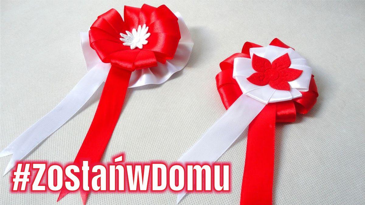 #ZostańwDomu: Biało-czerwony kotylion na Święto Narodowe