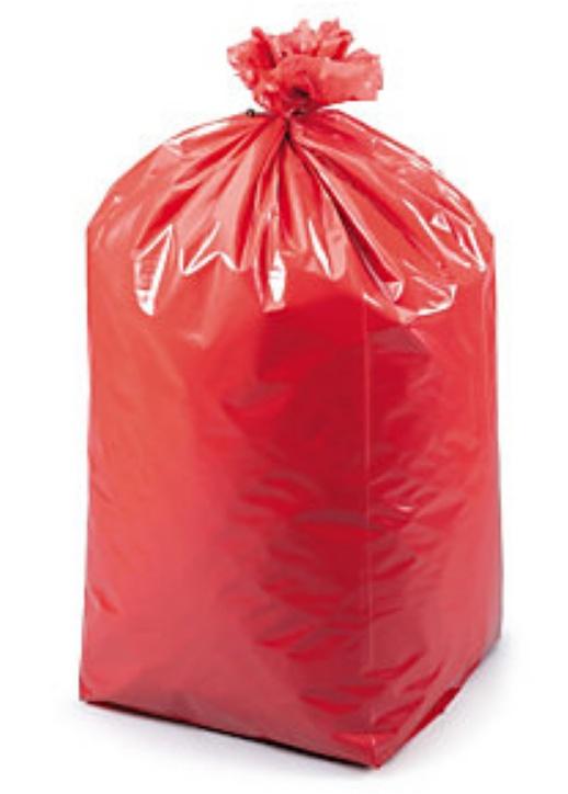 Czerwony worek naodpady medyczne