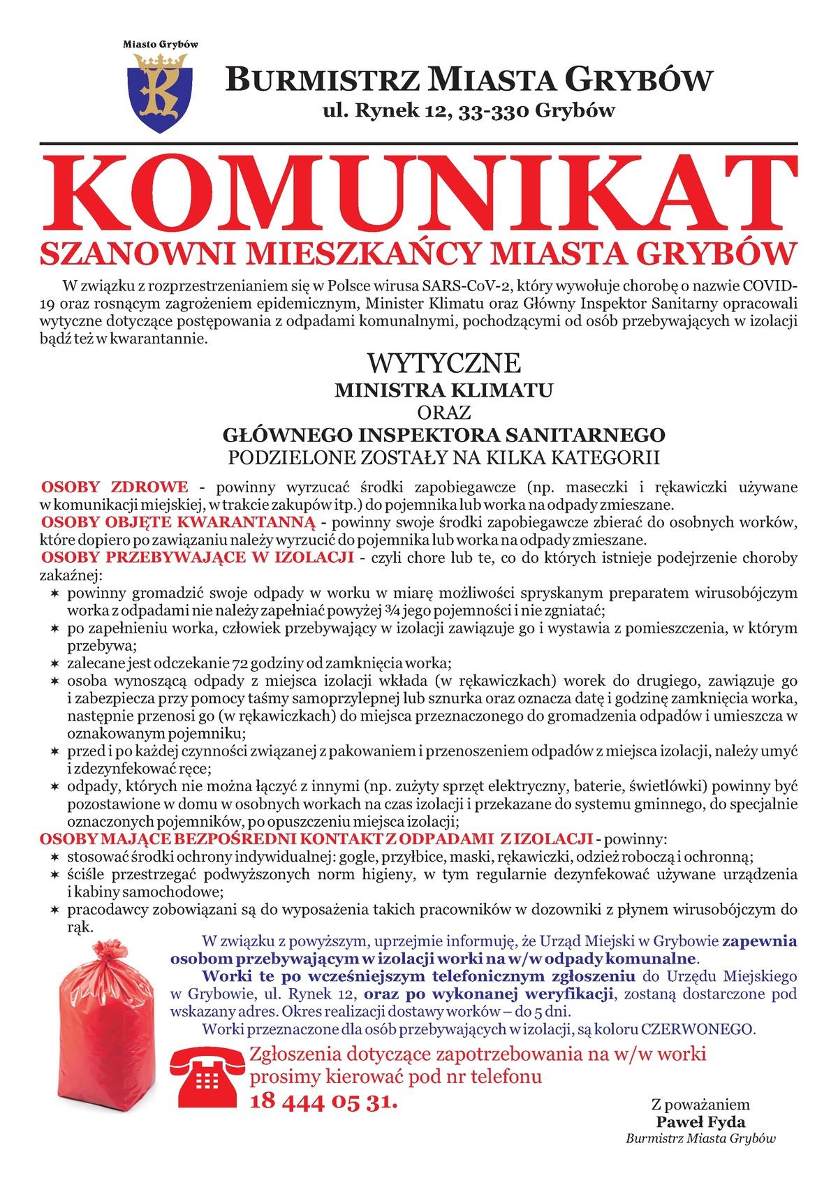 Plakat: Jak postępować zodpadami medycznymi?