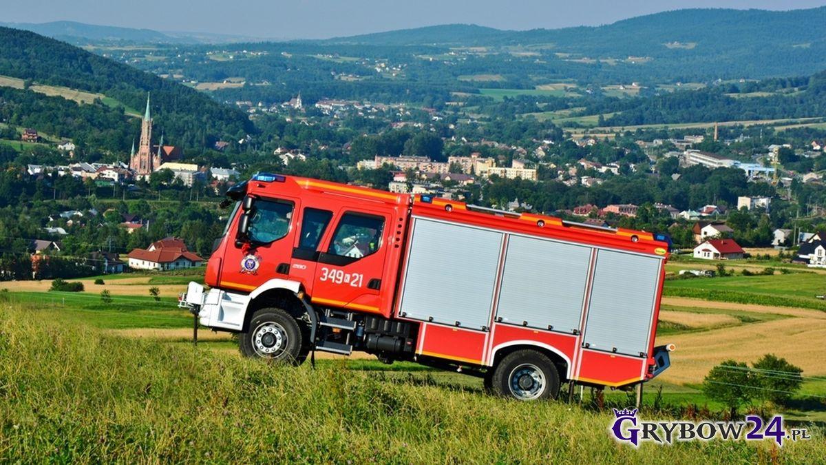 Wóz bojowy OSP Grybów-Biała (fot. Grybów24.pl)