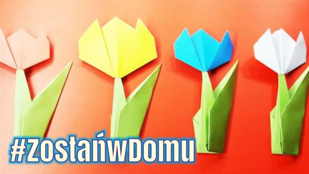#ZostańwDomu: Wiosenne kwiatki techniką origami