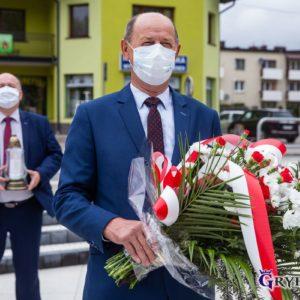 2020-05-03: Samorząd Miasta Grybów uczcił 229. rocznicę Uchwalenia Konstytucji 3 Maja