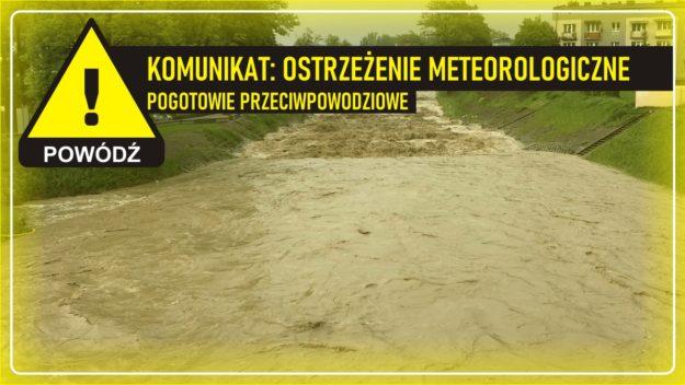 Komunikat meteorologiczny: Pogotowie przeciwpowodziowe