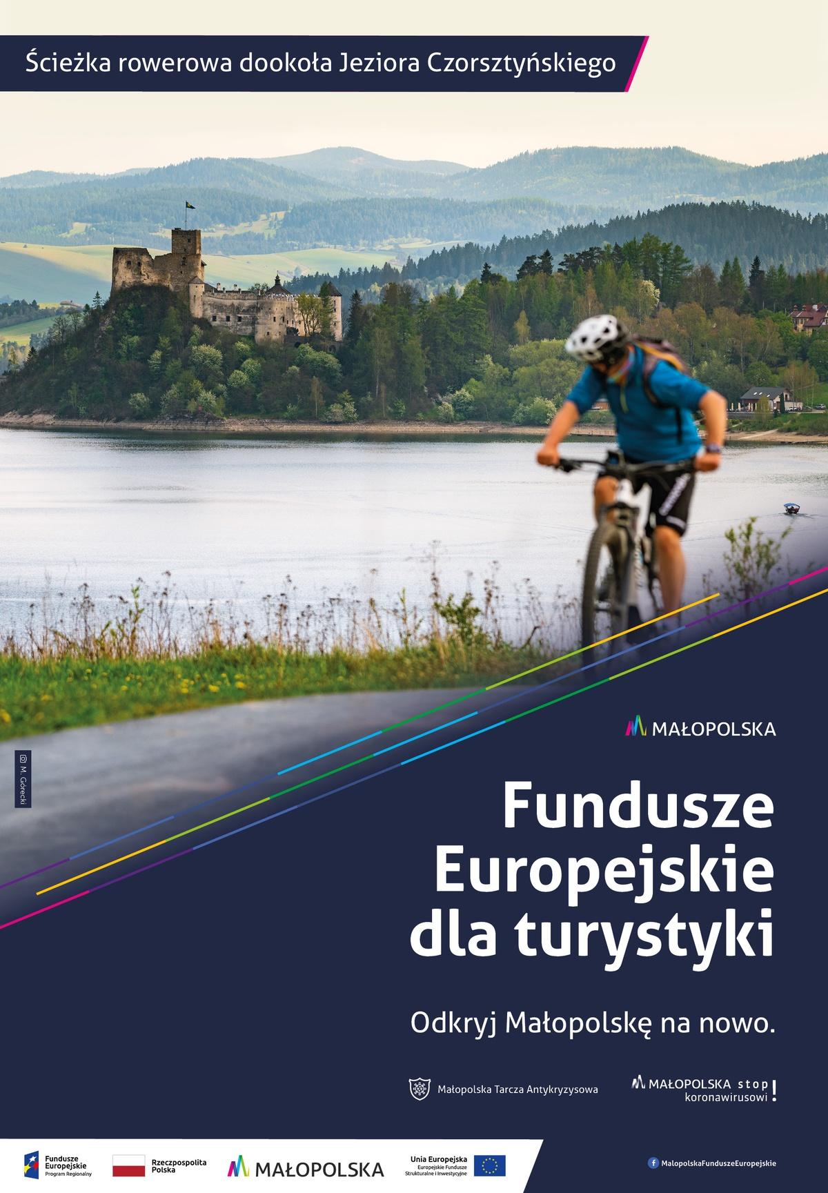 Grafika promująca trasę rowerową