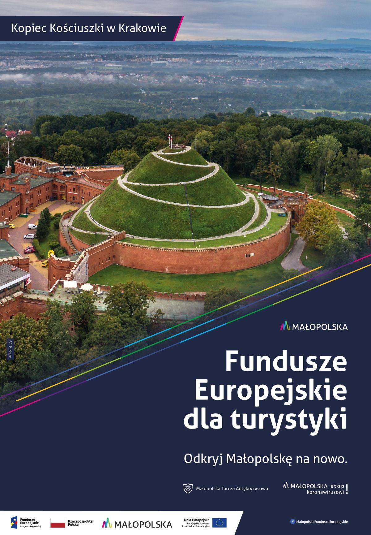 Plakat promujący Kopiec Kościuszki wKrakowie