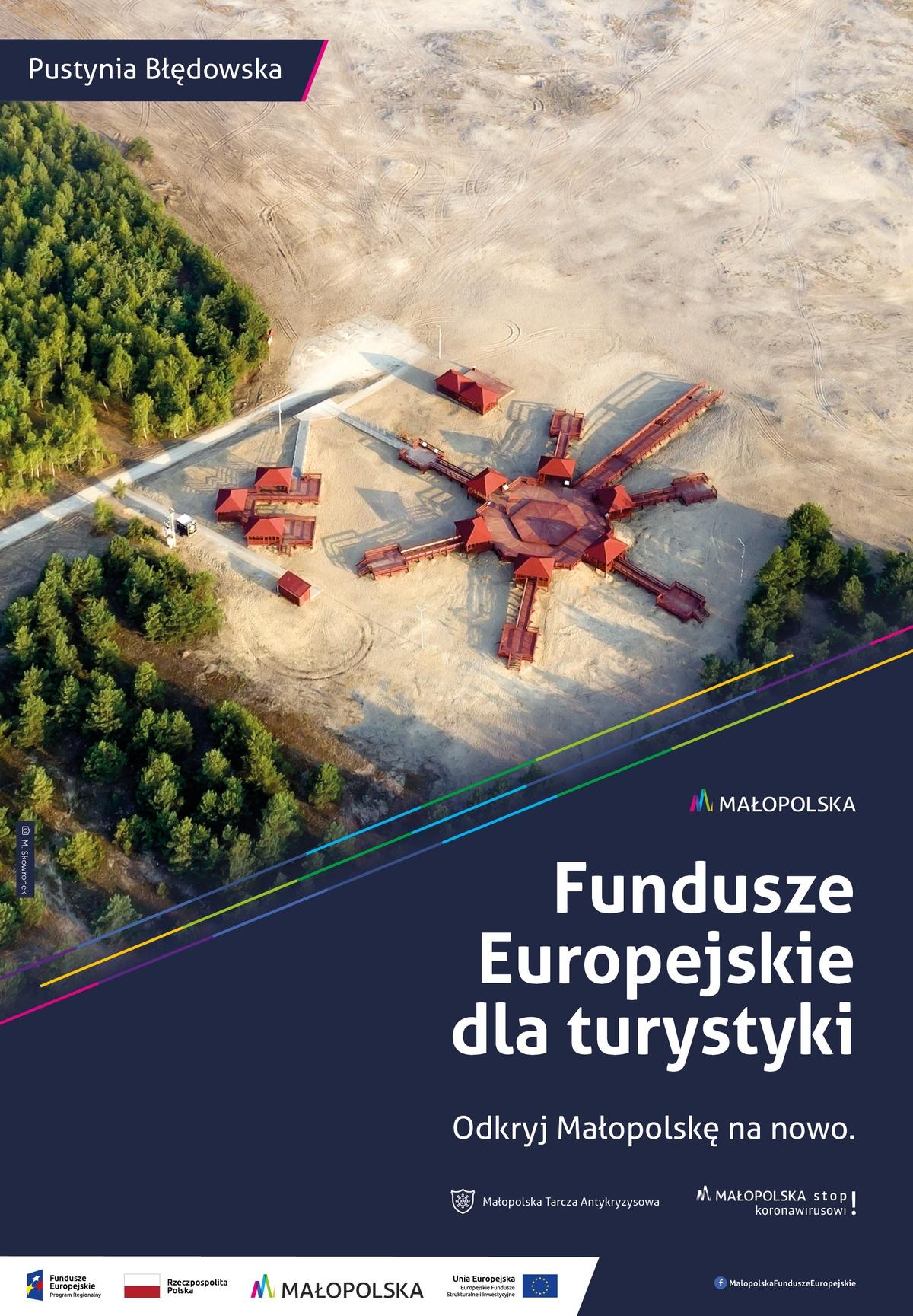 Plakat promujący Pustynię Błędowską