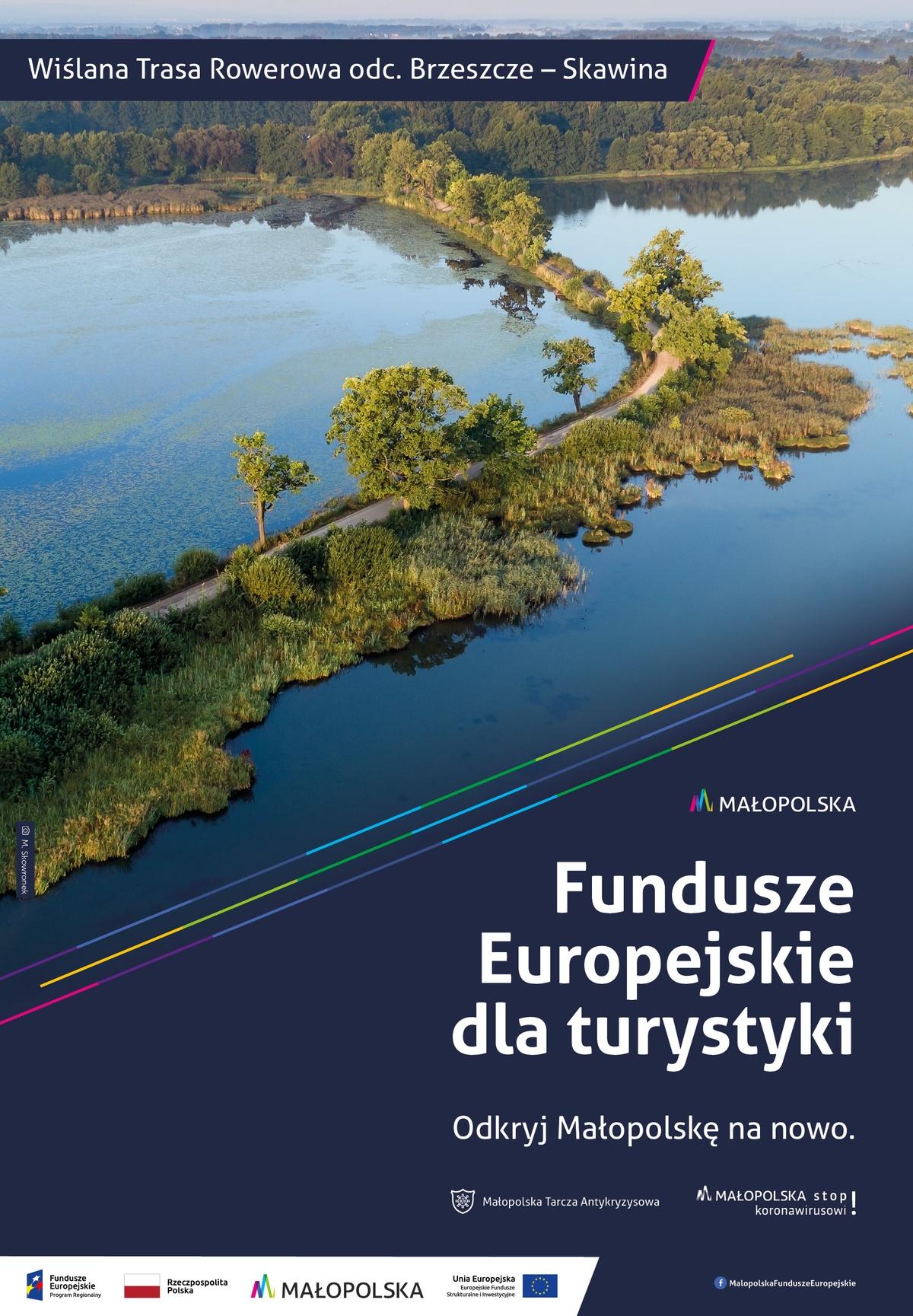 Plakat promujący trasę rowerową