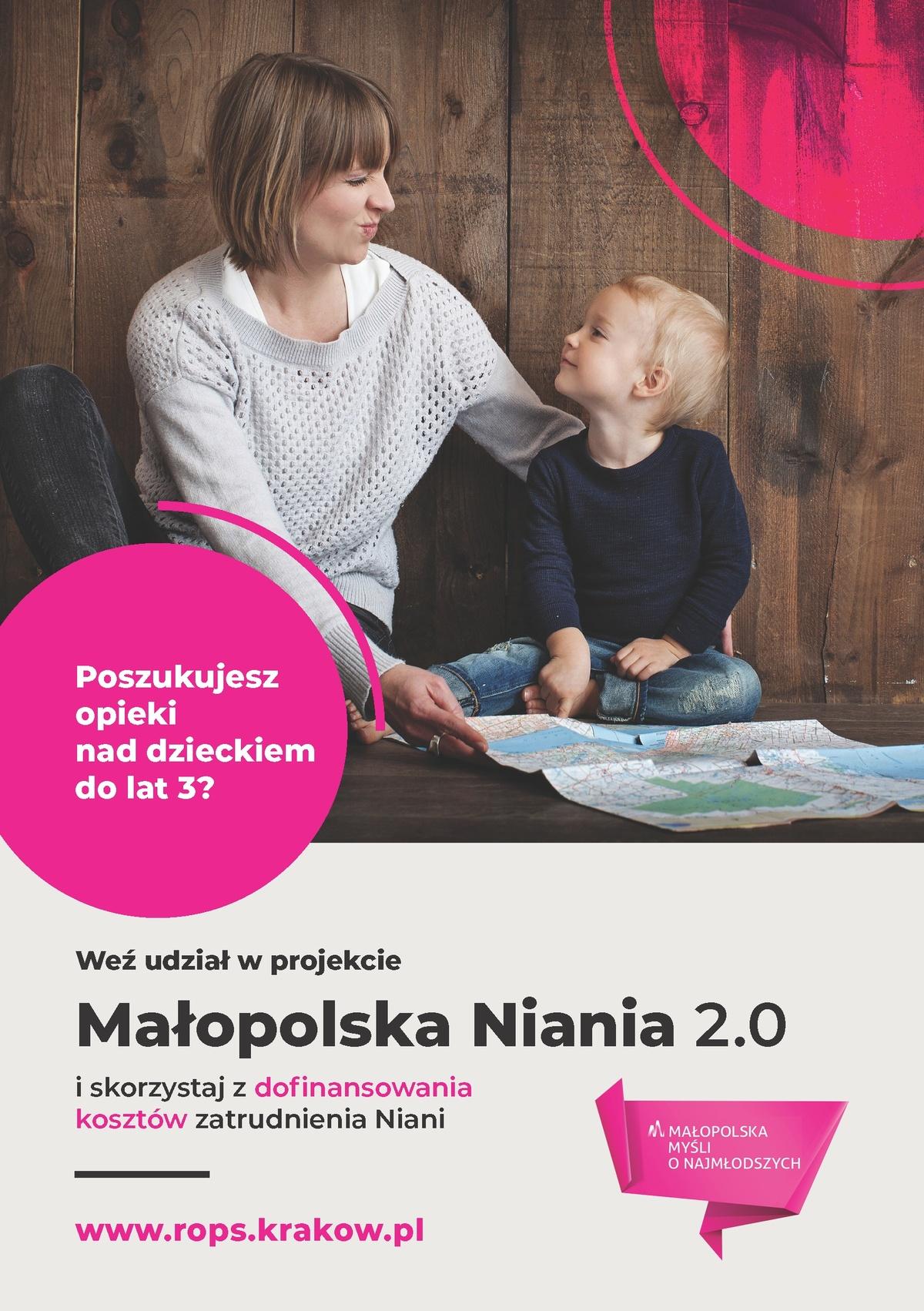 Małopolska Niania 2.0 - plakat informacyjny