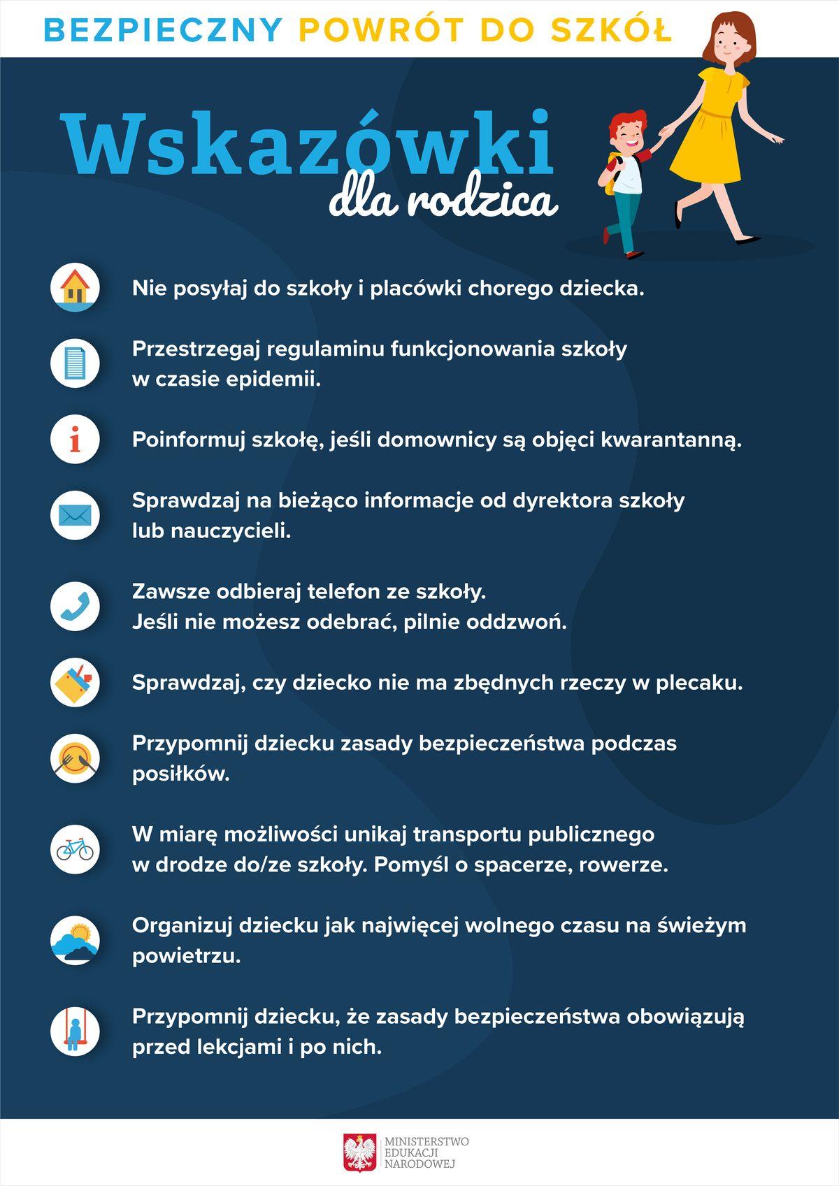Bezpieczny powrót doszkoły: Wskazówki dla rodziców