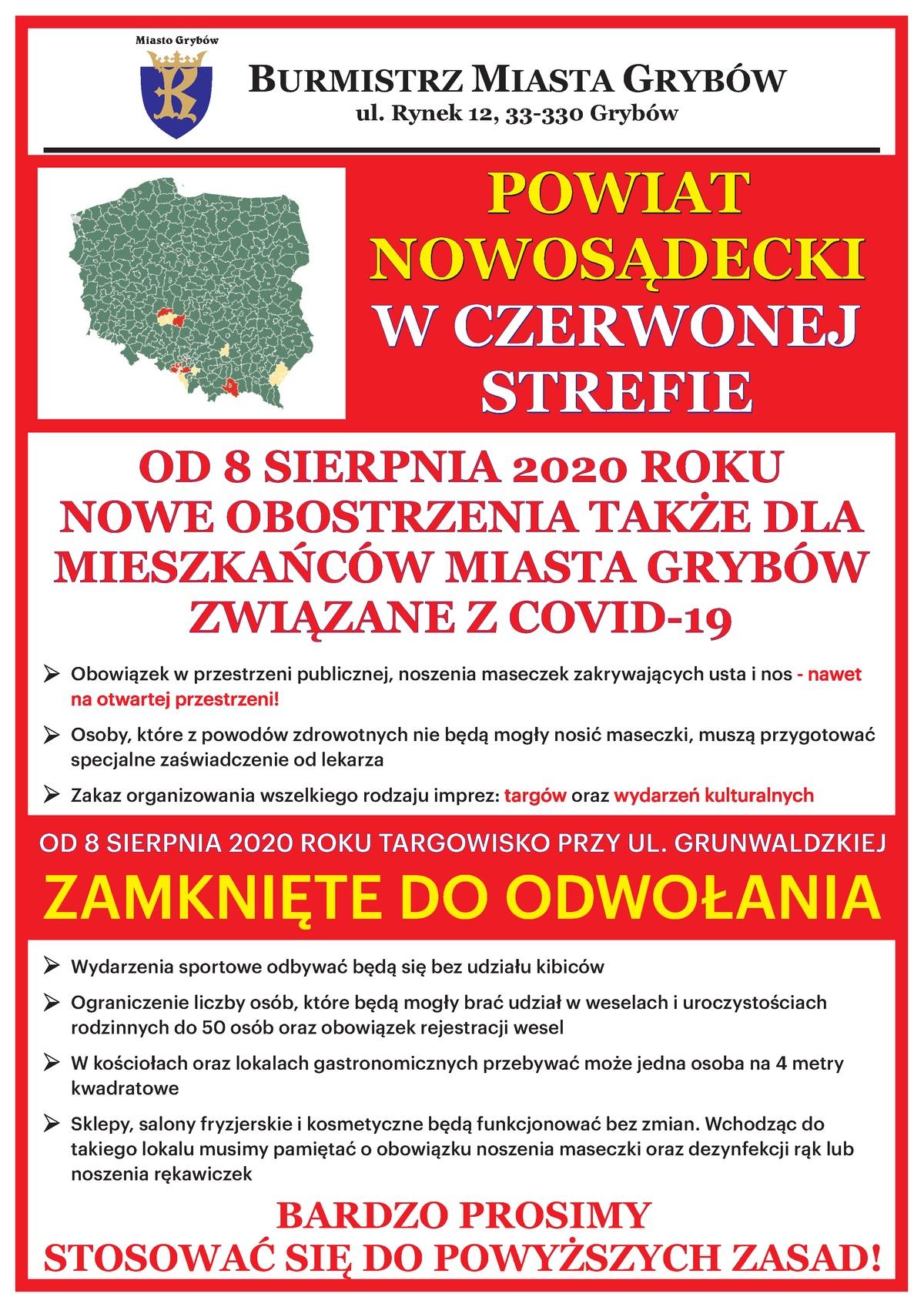 Plakat: Nowe zasady bezpieczeństwa