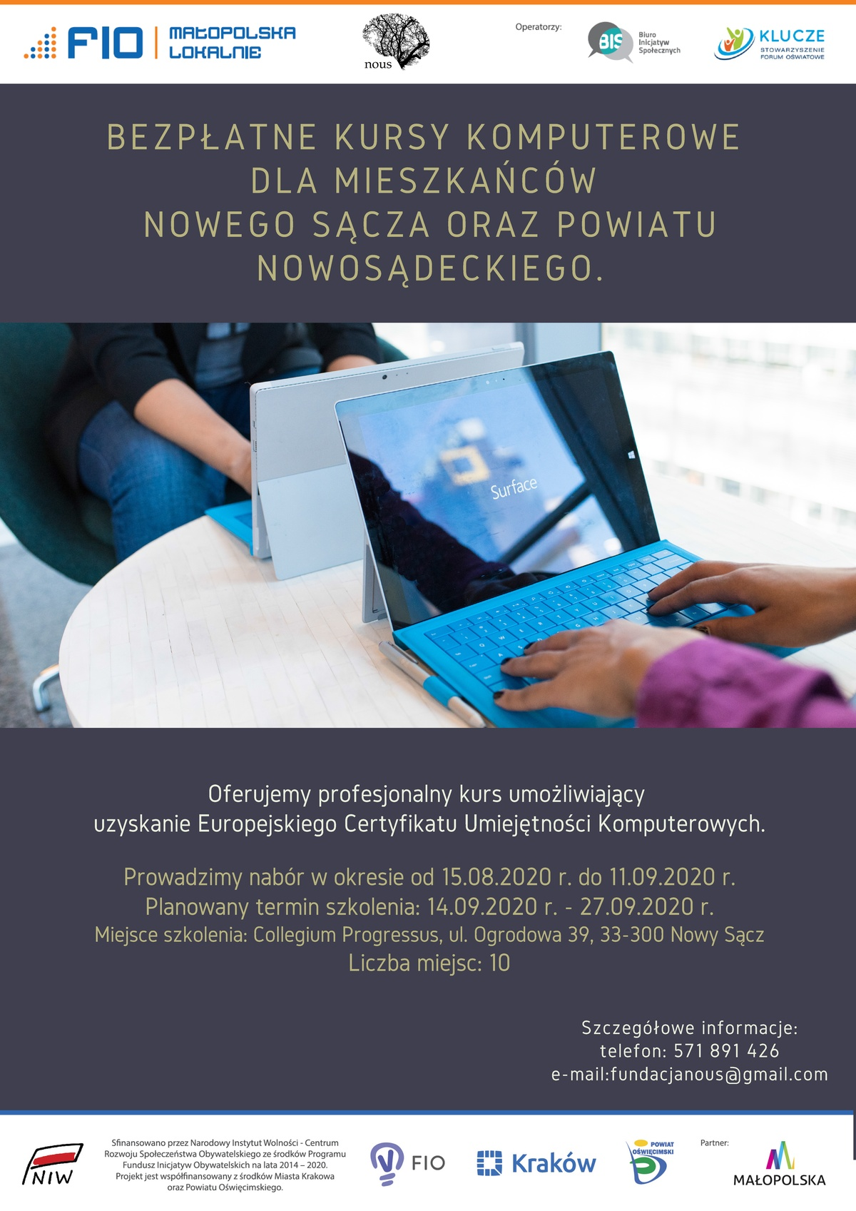"Plakat informacyjny dot. projektu ""Laboratorium szkoleniowe"""