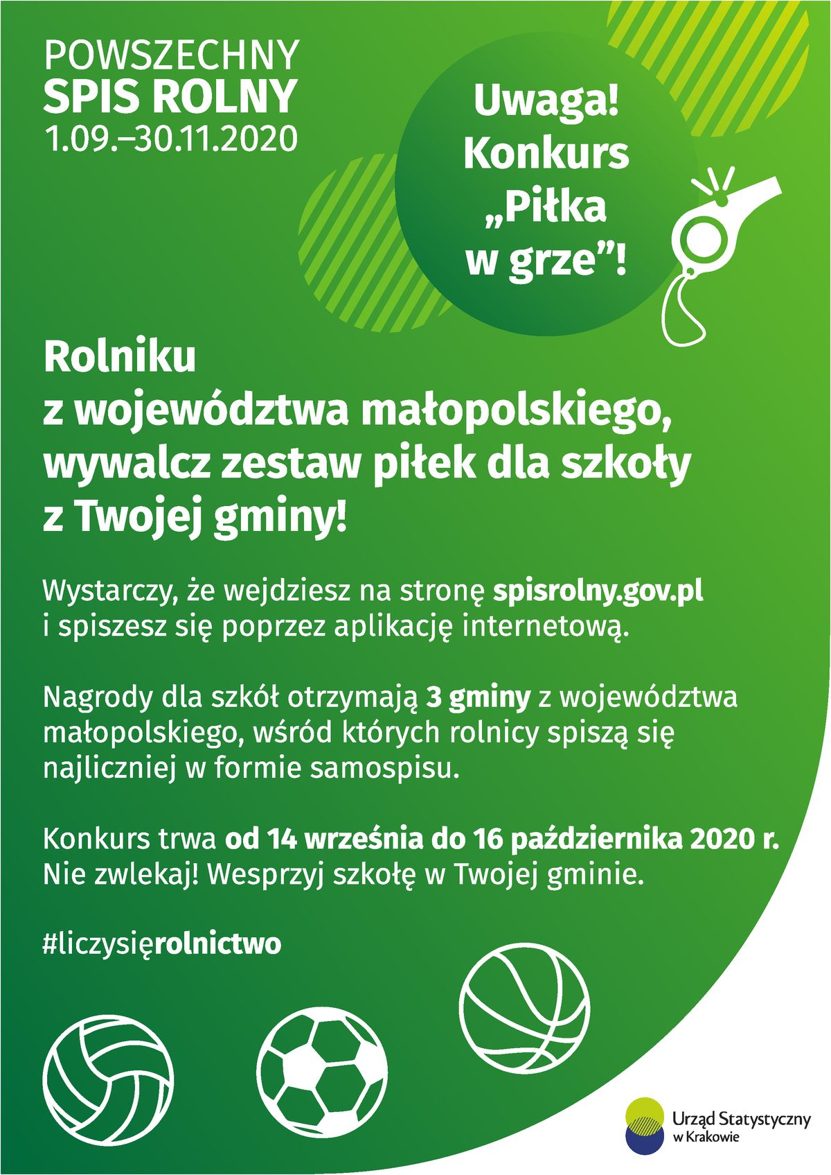 """Plakat """"Piłka wgrze"""""""