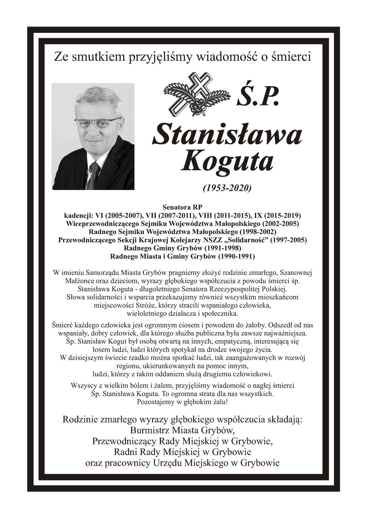 Pożegnanie śp.Stanisława Koguta